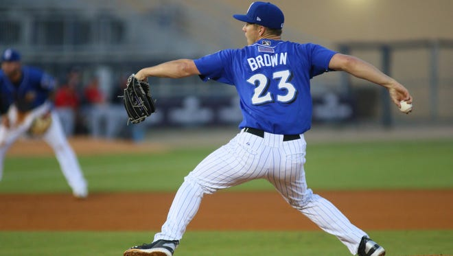 Milwaukee Brewers minor-league pitcher Zack Brown.