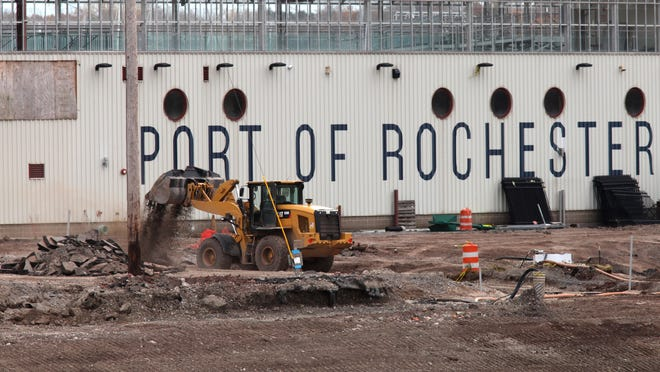 The Port of Rochester under construction for a new marina and residential complex in Charlotte in November.