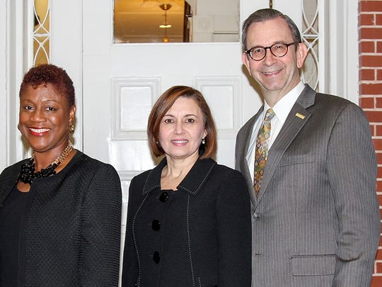 Pictured (from left) Barbara George Johnson, executive