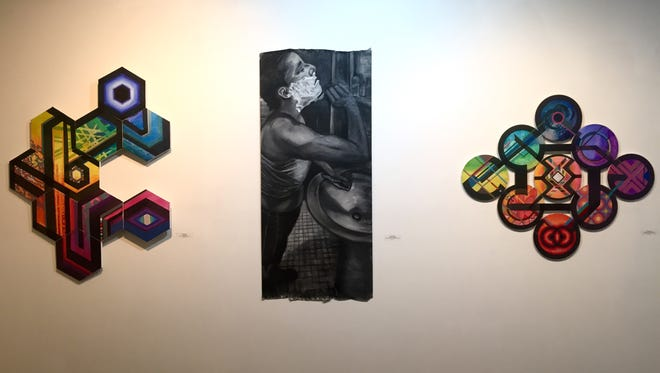 """The paintings of Phyllis Gorsen and Devon Reiffer in the exhibit """"Nurturing Your Nature"""" at ARTSPACE 1241 in Philadelphia."""