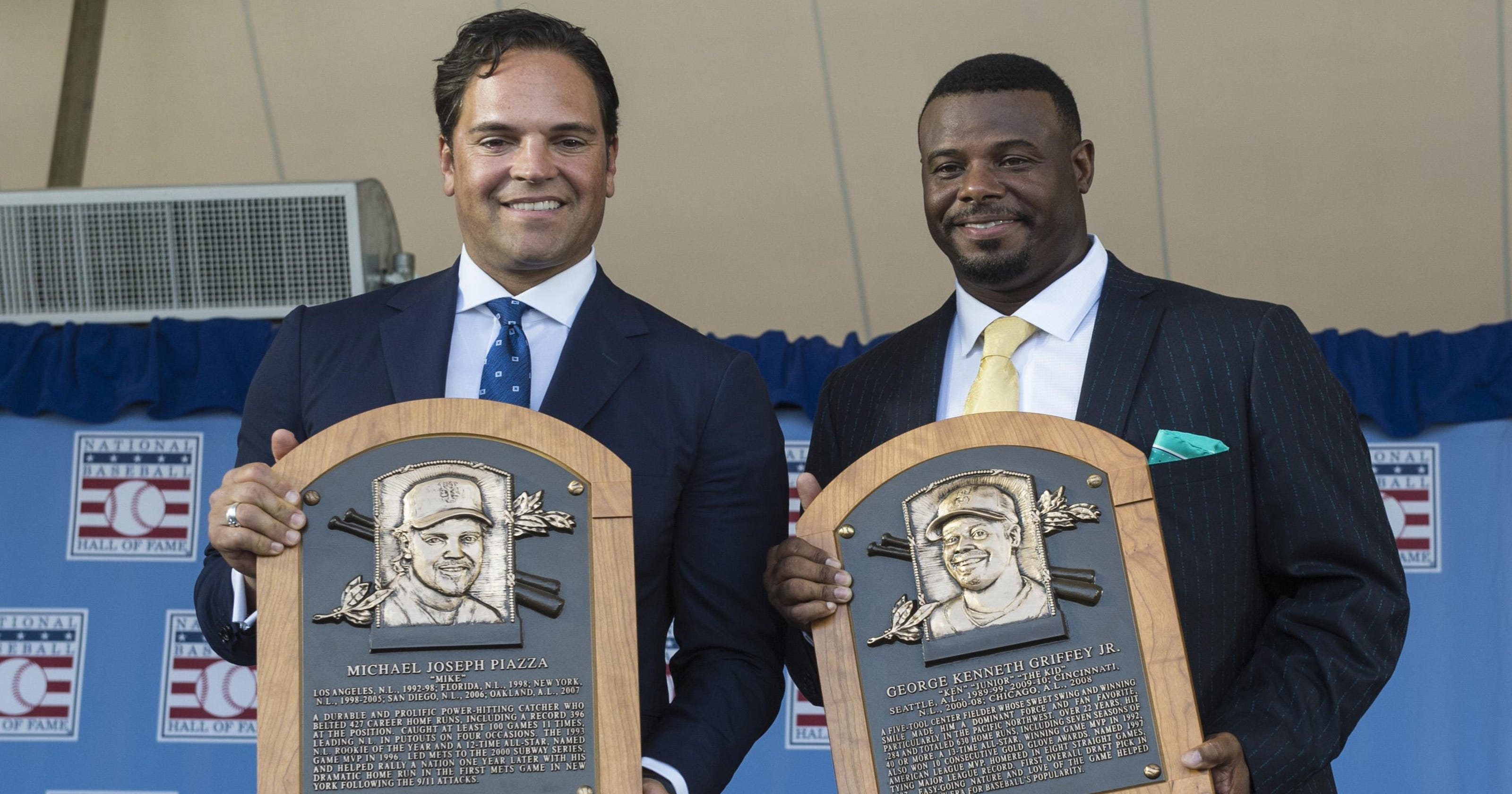 157b776ef9 Mike Piazza, Ken Griffey Jr. inducted into Hall of Fame