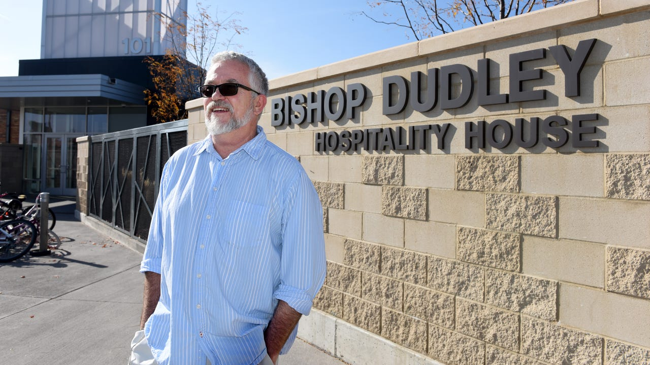 Tom Foster, formally homeless, is now a resource advocate at the Bishop Dudley Hospitality House.