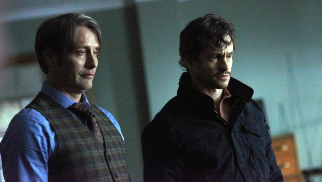 Mads Mikkelsen, left, and Hugh Dancy star in 'Hannibal.'