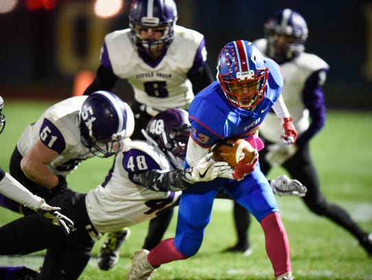 Apollo's Jayden Lister carries the ball during the