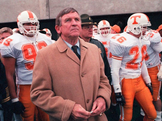 In his last game leading the Vols, Tennessee head coach