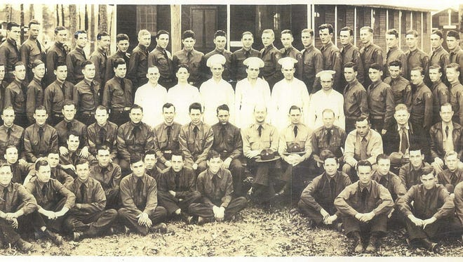 A camp photo from one of Louisiana's Civilian Conservation Corps camps.