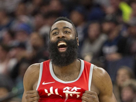 USP NBA: HOUSTON ROCKETS AT MINNESOTA TIMBERWOLVES S BKN MIN HOU USA MN