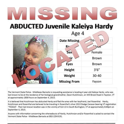 This missing persons flier was issued after a child