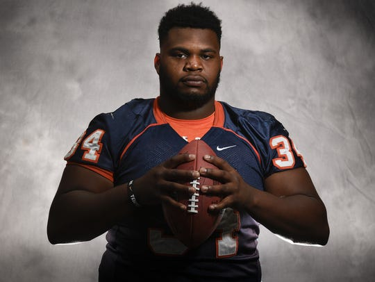 Nashville Christian defensive lineman Brant Lawless