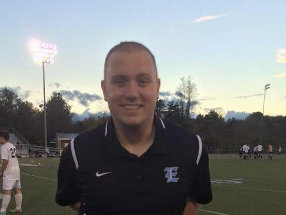 Enka JV boys soccer coach Taylor Sluder.