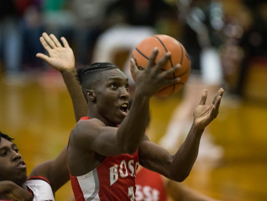 Bosse's D'Angelo Ware (3) goes up for a layup against