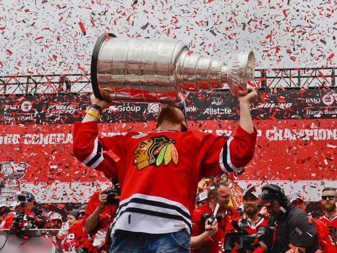 blackhawks stanley cup celebrations