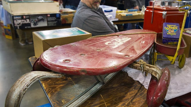 A pre-WWII metal sled from a collection of Jeff Blose, of Lebanon Pa.  Paul Kuehnel - Daily Record/Sunday News
