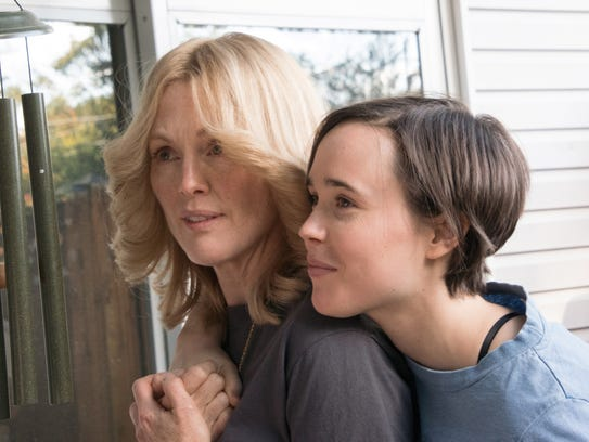Julianne Moore as Laurel Hester (left) and Ellen Page