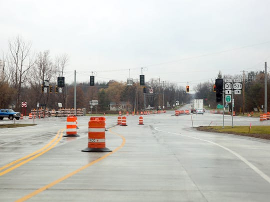 Construction will close part of Route 31 westbound