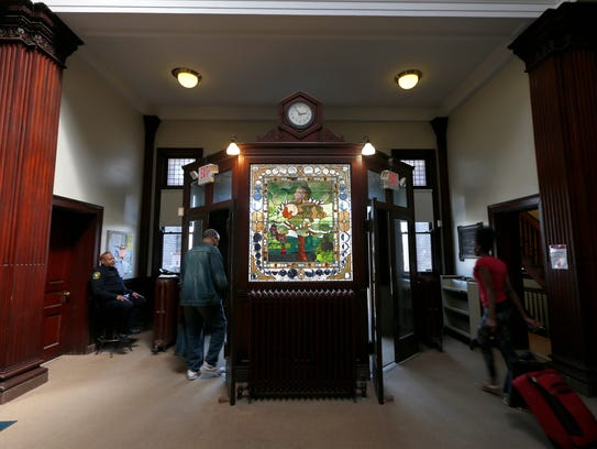 The lobby area of the Walnut Hills Branch of The Public