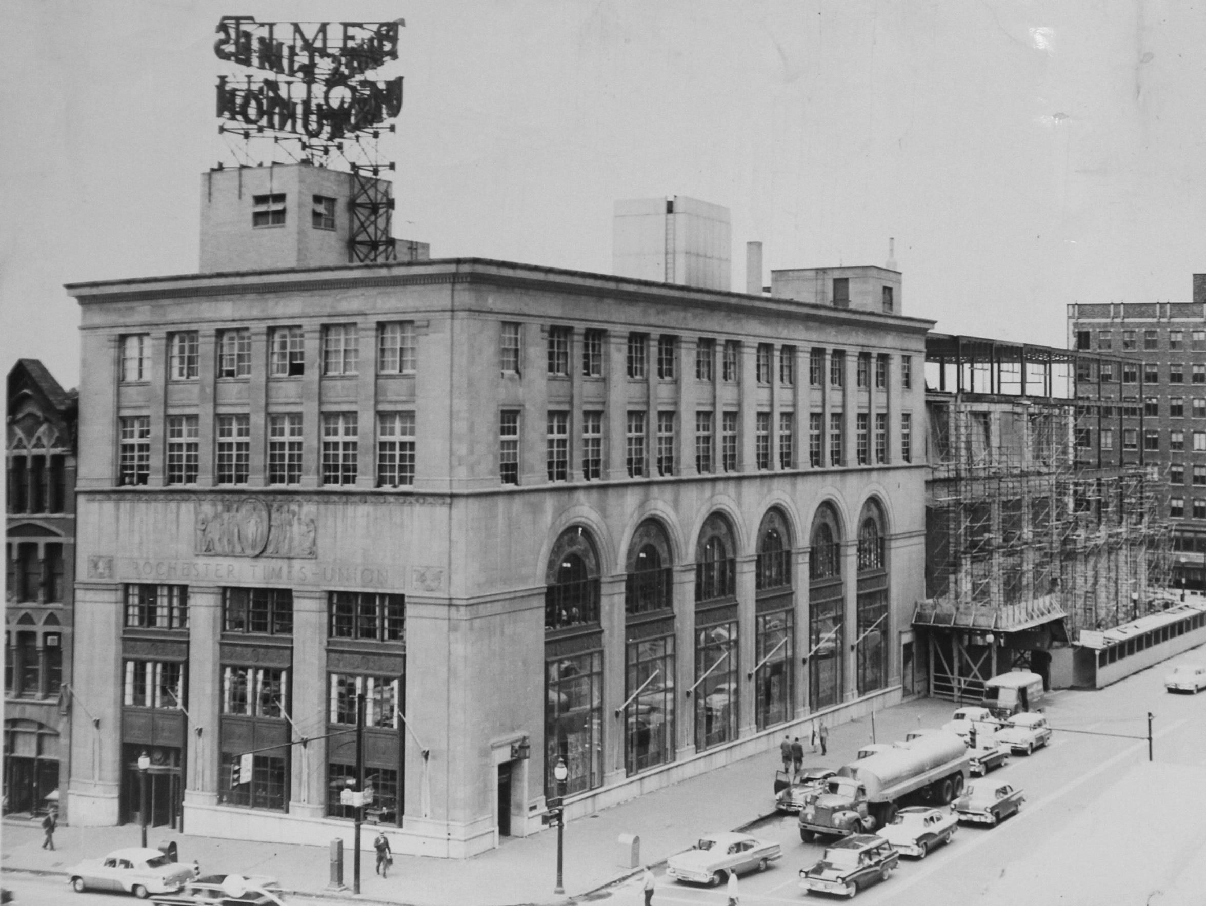 Undated photo of the Gannett building before the Democrat