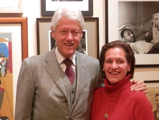 Diane Nine with President Bill Clinton.