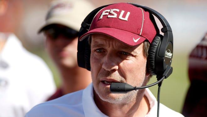 Florida State Seminoles head coach Jimbo Fisher.