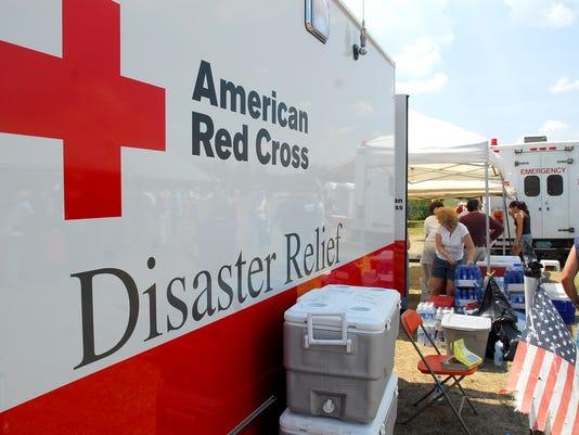 Red Cross truck