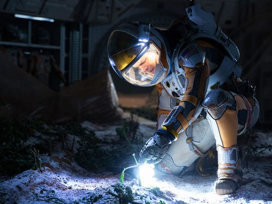 """This photo released by 20th Century Fox shows Matt Damon in a scene from """"The Martian."""""""