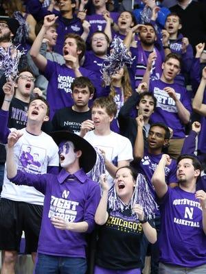 Northwestern asked a shrieking superfan to quiet down.