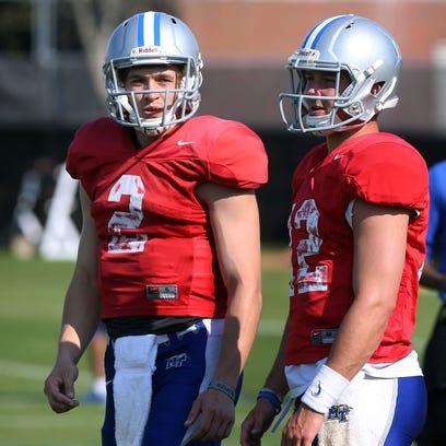 Despite being best friends off the field, MTSU quarterbacks