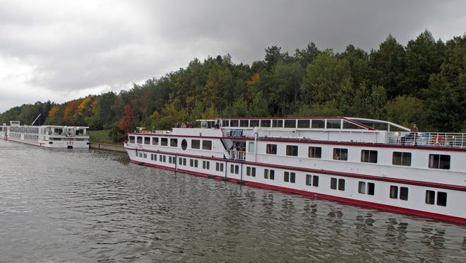 Sometimes river cruise ships dock in remote locations.