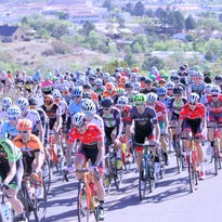 The UCI Men make their way up Snake Hill leaving Silver City during the first stage of the 30th edition of the Tour of the Gila on Wednesday.