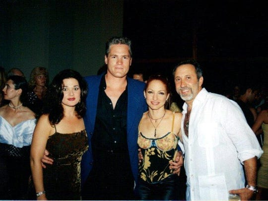 Lawrence Dermer and his wife, Robin, left, and Gloria and Emilio Estefan.