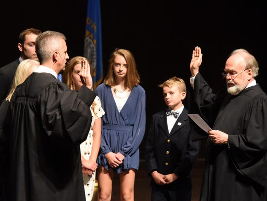 Mark E. Salter is sworn in as the 51st Justice of the