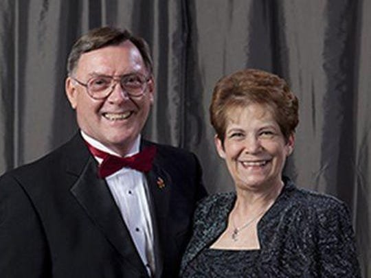 This 2014 photo shows Craig and Terry Denny soon after the couple donated $100,000 to the Department of Civil, Construction and Environmental Engineering at Iowa State University.
