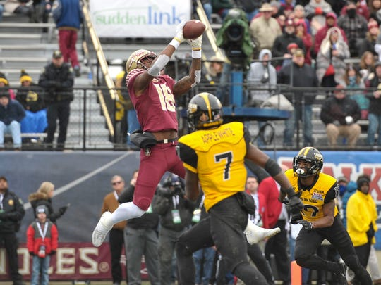 The Bengals picked Florida State Seminoles wide receiver Auden Tate in the seventh round of the 2018 NFL Draft.