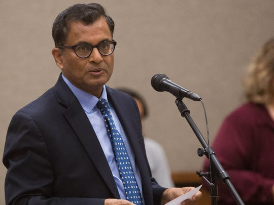 Lashmi Reddi, dean of the college of engineering at New Mexico State University, during public comment at the NMSU Regents meeting, Monday June 12, 2017, spoke in favor of raising tuition at the university, as did many other deans and department heads. The NMSU Board of Regents ultimately voted to increase tuition by 6 percent.