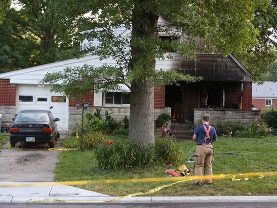 Crews wrap up at the scene of the fire.