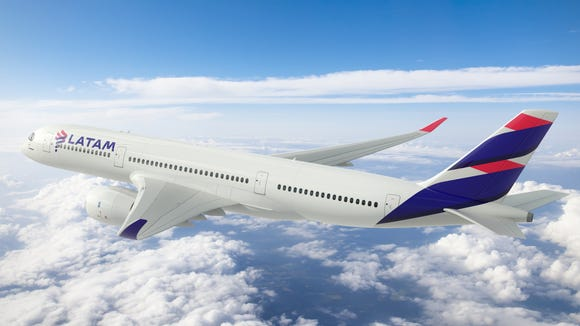 This rendering shows the new livery LATAM Airlines