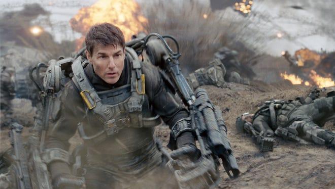 "Tom Cruise in a scene from ""Edge of Tomorrow."""