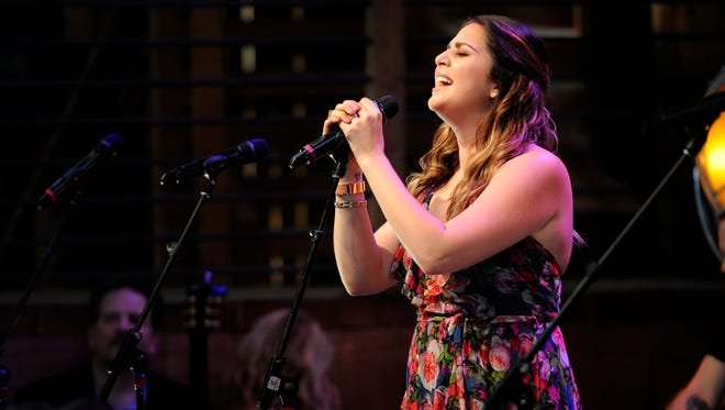 Hillary Scott performs on the HGTV Lodge stage Sunday June 12, 2016, in Nashville, Tenn.
