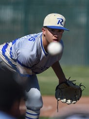 Reed's Jeremy Gallegos pitches against McQueen during