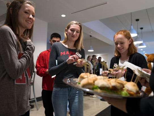 Students enjoy sandwiches from Rossi's Deli's second