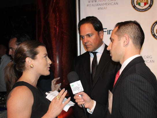 Dolores Alfieri (left) and Anthony Fasano (right) interview