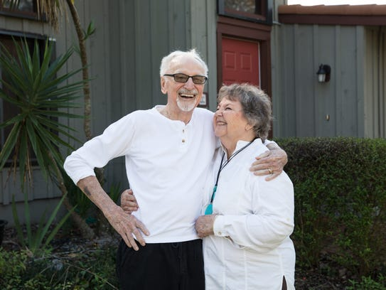 Dan Wood, with his wife Arita Smitley-Wood, recently