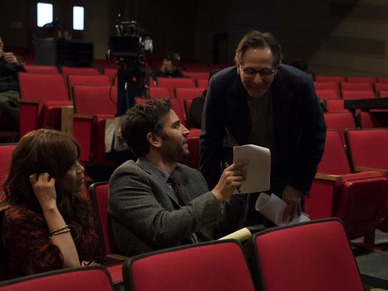 """Rise"" creator Jason Katims, right, on the NBC drama's"