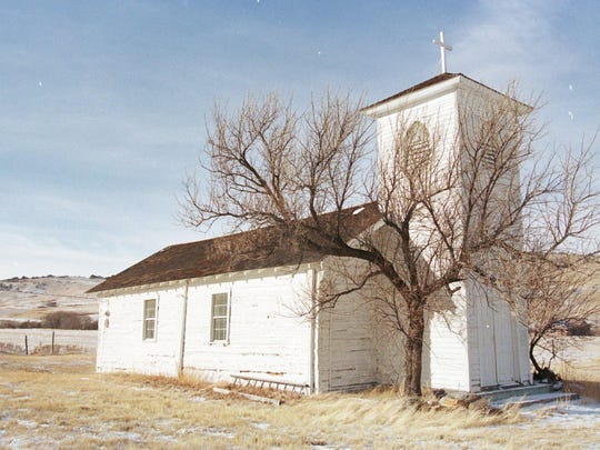 Built by Jesuit priests, the simple wooden church at St. Peter's Mission is still standing. Thomas Meagher visited the mission in the early days of the Montana Territory and was able to interact with the Jesuits, including a fellow Irishman, better than his protestant comrades.