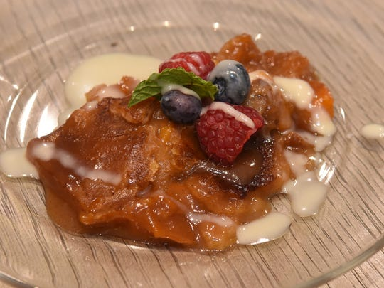 For desert Hardette Harris served an old fashion Peach Cobbler with Maple Cream.