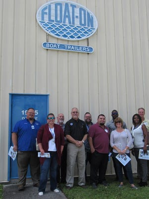Indian River County teachers visited Float-On during a tour of local manufacturing businesses.