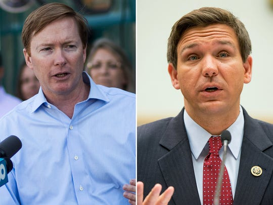 Agriculture Commissioner Adam Putnam, left, and U.S. Rep. Ron DeSantis