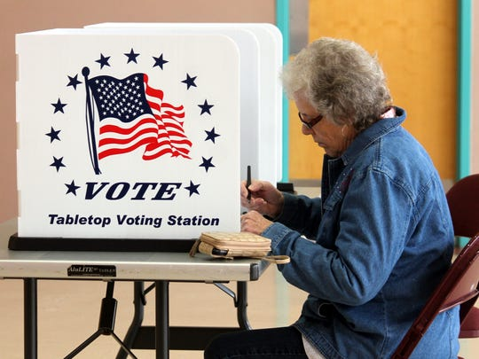 Residents were able to vote at three polling locations in Alamogordo and one in Tularosa on Tuesday.