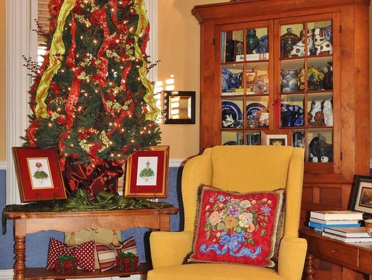 The home of Jennifer Hogan and Charlie Ratigan, decorated
