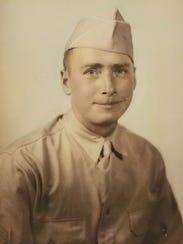 A photo of Bernard McNamara, whose Purple Heart was